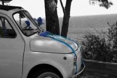 Mariage Fiat 500 Blanche