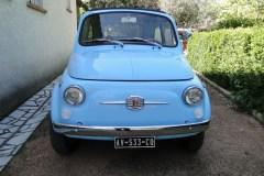 Mariage en Fiat 500 Bleue